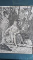 Sadeler: Syrinx nimfát a Pán meglesi