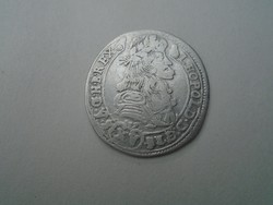 1687 Lipot ezüst 15 krajcár. KB ( Körmöcbánya veret )