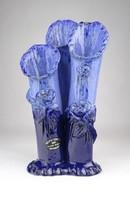 0X732 Kortárs görög kék kerámia váza 25.5 cm