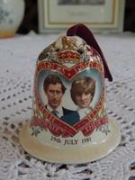 Lady Diana & Charles herceg esküvői emlék tárgy