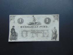 1 dollár 1852 A Kossuth bankó Szép bankjegy !