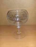 Retro metszett üveg kehely (fp)