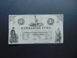 1 dollár 1852 B Kossuth bankó Szép bankjegy !