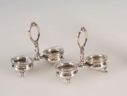 Ezüst páros asztali fűszertartó