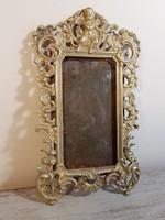 Antik réz kép vagy tükörkeret puttóval! Nagy méretű!
