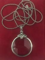 Régi ezüst nyaklánc lupe medállal