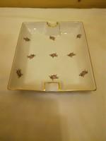 Herendi kis virágmintás porcelán szivartál, hamutál