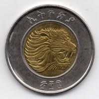 Etiópia 1 Birr, 2016, bimetál