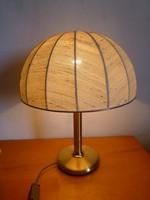 Retro,vintage,réz talapzatú asztali lámpa,éjjeli lámpa,hangulat lámpa
