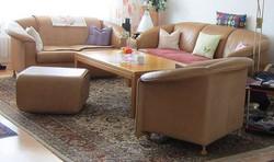 WITTMANN prémium ülőgarnitúra / argentin marhabőr / 3+2+1+ asztal