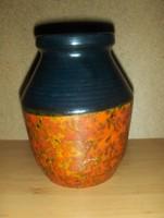Tófej iparművész kerámia váza 16 cm magas (7/d)