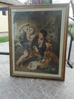 Régi Gobelin kép Üvegezett képkeretben