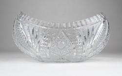 0X742 Vastagfalú csiszoltüveg asztalközép kínáló