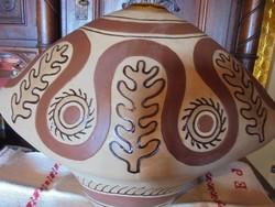 Nagy méretű indián váza