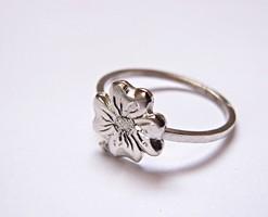 Lóherés lengyel ezüst gyűrű.