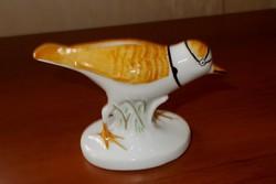 Porcelán madárka. 12 x 7,5 cm