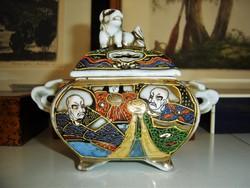 Antik japán porcelán füstölő edény