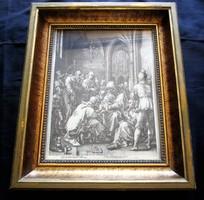 HEINRICH GOLßINS : JUDAIKA JUDAICA ZSIDÓ METSZET ZSINAGÓGA MÜNCHEN 1594 + ZERTIFIKÁT + KERET
