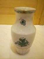 Herendi zöld Apponyi mintás porcelán barokk váza