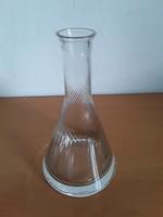 Gyönyörű,csavart mintás kristály dekantáló,boros palack