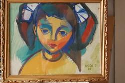 Józsa János Kislány portréja