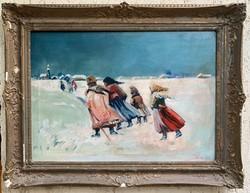 Szlovák festő - Téli felvidék 1949