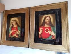 Antik szentképek / nagyméretűek 54x64cm!