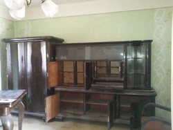 Art Deco keményfa szekrény
