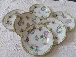 Viktória mintás herendi desszertes tányér 6 db 1943-44