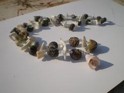 Nyári valódi kagylós csigás nyaklánc olcsón