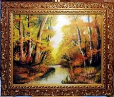 Czinóber - Itt van az ősz ( 50 x 60, káprázatos keretben )