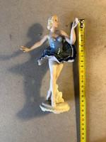 Régi német porcelán táncos nő