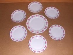 Rózsás porcelán süteményes készlet kínáló kistányér 6.sz. (s)
