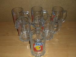 Arany Ászok üveg söröskorsó készlet 6 db 3 dl Sosem használt!!