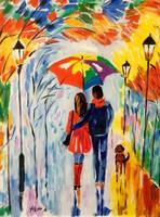 Hepp Natália: Séta az esőben