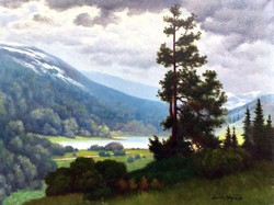 """Tordai Székely Zsigmond (20. sz. első fele) """" Hegyvidéki táj """""""