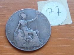 ANGLIA ANGOL 1 PENNY 1912 77.