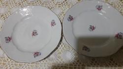 Zsolnay, 2db süteményes tányér, szép mintával