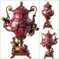 Meseszép barokk stílusú amfórák párban
