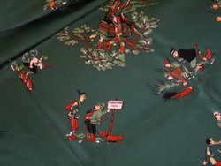 Selyemkendő, selyemsál, vadász jelenetekkel
