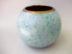 Retro,vintage kerámia türkiz váza