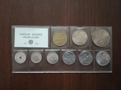 1974-es fóliás forgalmi sor UNC