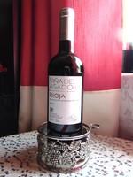 Ezüstözött asztali bortartó