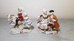 2db régi német barokk porcelán figura