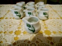 10 db Tulipános Schönfeld Porcelán
