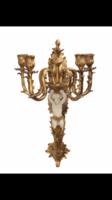 Barokk falikar -fali gyertyatartó 4ágú angyalos-puttós