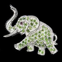 Valodi Krom Diopszid 925 Ezust Szerencset Hozo Elefant Bross
