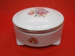 Nagyon szép Lippelsdorfi porcelán bonbonier virág mintával