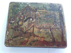 RITKA! Antik  Nestor Gianaclis KING egyiptomi fém(pléh) cigarettás doboz cca. 1920-30