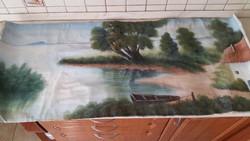Tájkép Vászonra festett eladó! Külön vászon, de keret is van hozzá.